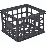 Sterilite 16929006 Milk Crate 15 By 13 By 10 Inch Black