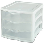 Sterilite 17918004 3 Drawer Clear Organizer