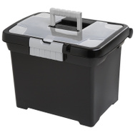 Sterilite 18719004 File Box Black For Letter And Legal Size File Folders