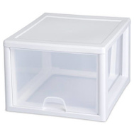Sterilite 23108004 Drawer Stacking 27 Quart White