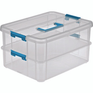 Sterilite 14228604 Tray Orginizer Stack Carry 2 Clear