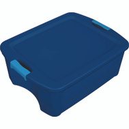 Sterilite 14447406 Tote Latch Carry True Blue 12 Gallon