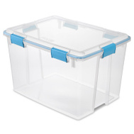 Sterilite 19384304 Gasket Box 80 Quart Clear Lid