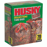 Husky HK39DS070C 39 Gallon Clear Drawstring Yard Bag