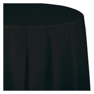 Creative Converting 703260 82 Inch BLK RND Table Cover