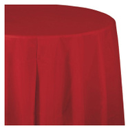 Creative Converting 703548 82 Inch RED RND Table Cover