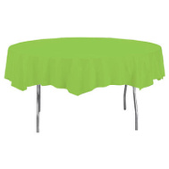 Creative Converting 703123 82 Inch Lime RND Table Cover