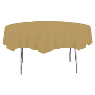 Creative Converting 703276 82 Inch GLD RND Table Cover