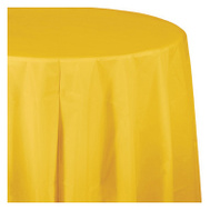 Creative Converting 703269 82 Inch YEL RND Table Cover