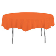 Creative Converting 703282 82 Inch ORG RND Table Cover