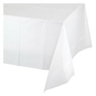 Creative Converting 703272 82 Inch WHT RND Table Cover