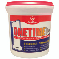 Red Devil 0541 One Time Spackling Compound Lightweight Pre Mixed 1 Gallon One Time
