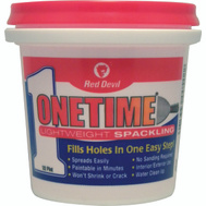 Red Devil 0542 One Time Spackling Compound Lightweight Pre Mixed 1/2 Pint One Time