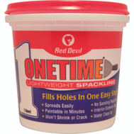 Red Devil 0544 One Time Lightweight Spackling Compound Pre Mixed 1 Quart