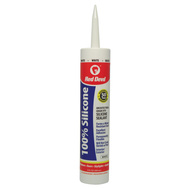 Red Devil 0816 Silicone Sealant Interior/Exterior White 10.1 Fluid Ounces