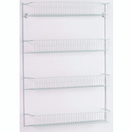 Closet Maid 8033 Rack 4-Tier Door/Wall Epxy Wht
