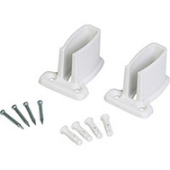 Closet Maid 71926 Wall Brackets 2-7/8 Inch By 2-1/8 Inch By 1-3/4 Inch Resin White 2 Pack