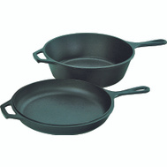 Lodge LCC3 10 1/4 Inch Cast Iron Combo Cooker
