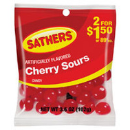 Sathers 693642 Cherry Sours Bag 3.6 Oz