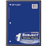 Top Flight 4510816 Wirebound Notebook Wr 70 Ct