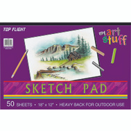 Top Flight 4807304 Sketch Pad 50# Drawing Paper