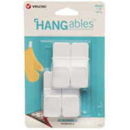 Velcro Brands VEL-30107-USA Hook Wall Adhesv Small Wht 4Ct 4 Pack