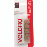 Velcro Brands 90071 Sticky Back Beige Stick Coin Fastener Pack Of 15