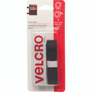 Velcro Brands 90078 Sticky Back General Purpose Water Resistant Hook And Loop Tape 18 Inch By 3/4 Inch Black