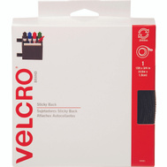 Velcro Brands 90081 Sticky Back 3/4 Inch By 15 Foot Black Sticky Back Fastener Roll