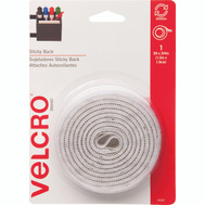 Velcro Brands 90087 Sticky Back White 5 Foot By 3/4 Inch Hook And Loop Fastener Roll