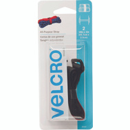 Velcro Brands 90107 Velstrap Black Cinch Strap Fastener Pack Of 2