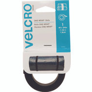 Velcro Brands 90302 One Wrap 3/4 Inch By 36 Inch Black Two-Sided Strap