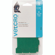 Velcro Brands 90472 One Wrap 11 Inch X 1/2 Inch Green One-Wrap Strap Cd 6