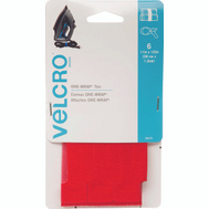 Velcro Brands 90475 One Wrap 11 Inch X 1/2 Inch Red One-Wrap Strap Cd 6
