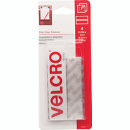 Velcro Brands 91327 Sticky Back 3/4 Inch By 3-1/2 Inch Clear Velcro Strip 4 Pack