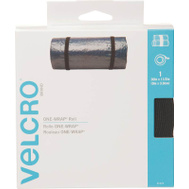 Velcro Brands 91372 One Wrap 30 Foot By 1-1/2 Inch Black Bundling Strap For Cables Wires & Cords