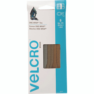 Velcro Brands 91747 One Wrap 8 Inch By 1/2 Inch Military Multi Color Ties Pack Of 6