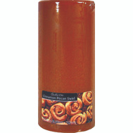 Candle Lite 2846549 2.8 Inch By 6 Inch Cinnamon Pecan Swirl Pillar Candle