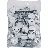 Candle Lite 4231595 Tealights 50Ct Pack White