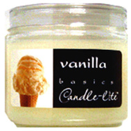 Candle Lite 2400570 4 Ounce Vanilla Candle Jar