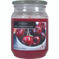 Candle Lite 3297565 18 Ounce Jar Candle Blk Cherries