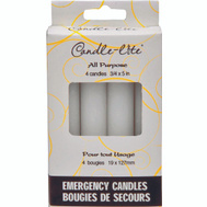 Candle Lite 3745595 5In Emergency Candles 4 Pack