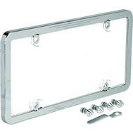 Victor 22-1-46398-8 Universal Chrome Anti-Theft License Plate Frame With Protective Cover