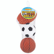Westminster Pet 20063 Toy Pet Sport Ball Vinyl 3Ct