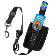 Westminster Pet 41333 Ruffin It Black Adjustable Seat Belt Leash With Belt Clip