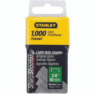 Stanley Tools TRA206T Narrow Crown Staples 3/8 Inch 1000 Per Pack.