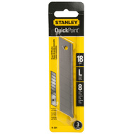 Stanley Tools 11-301 Quick Point 19 Mm Quick Point Knife Blade 3 Pack