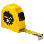 Stanley Tools 30-455 Yellow Tape Rule 25 Foot By 1 Inch Wide