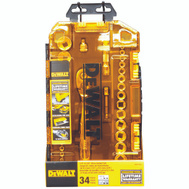 Stanley Tools DWMT73804 DeWalt 1/4 Inch And 3/8 Inch Drive 34 Piece Socket Set