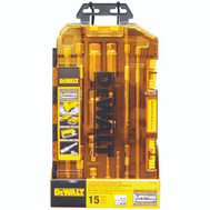 Stanley Tools DWMT73807 DeWalt Tough Box 15 Piece Drive Accessory Tool Kit With Lockable Stacking Case